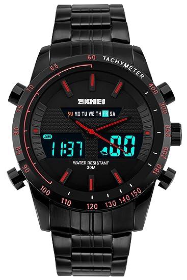 Reloj De Hombre Digital Analógico Reloj Deportivo Hombres Militar reloj de pulsera reloj de cuarzo LED
