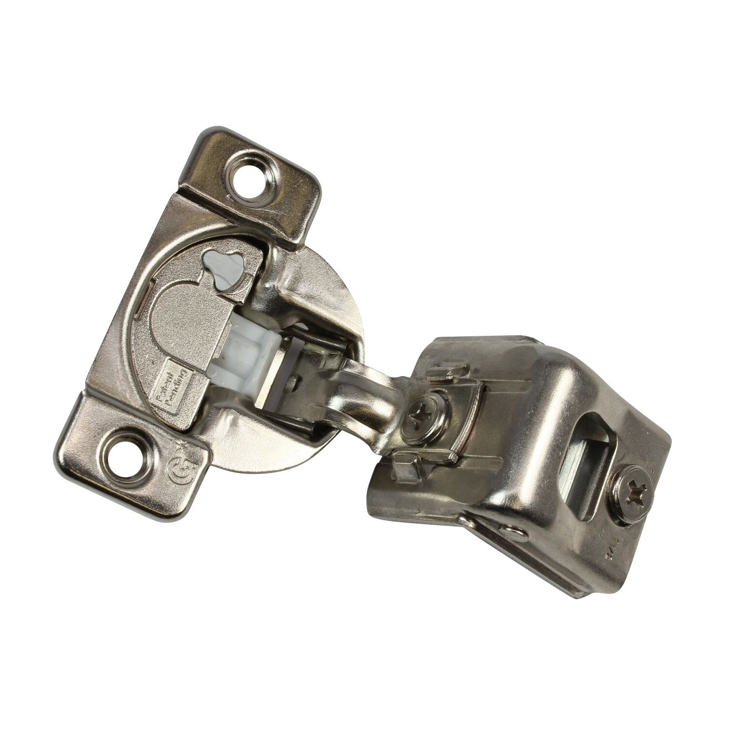 10 Pack Rok Hardware Grass TEC 864 108 Degree 1-1/2'' Overlay 3 Level Soft Close Screw On Compact Cabinet Hinge 04549A-15 3-Way Adjustment 45mm Screw Hole Pattern
