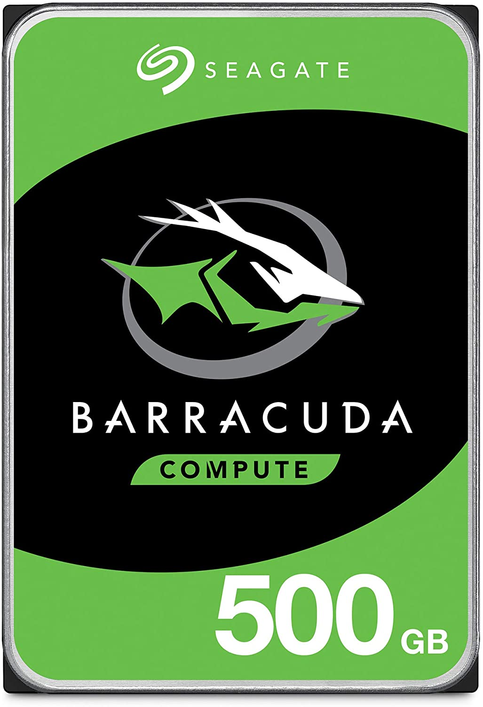 Seagate BarraCuda 500GB Internal Hard Drive HDD – 3.5 Inch SATA 6 Gb/s 7200 RPM 32MB Cache for Computer Desktop PC (ST500DM009)