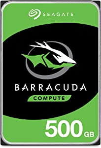Seagate BarraCuda 500GB Internal Hard Drive HDD – 3.5 Inch SATA 6 Gb/s 7200 RPM 32MB Cache for Computer Desktop PC (ST500DM009)