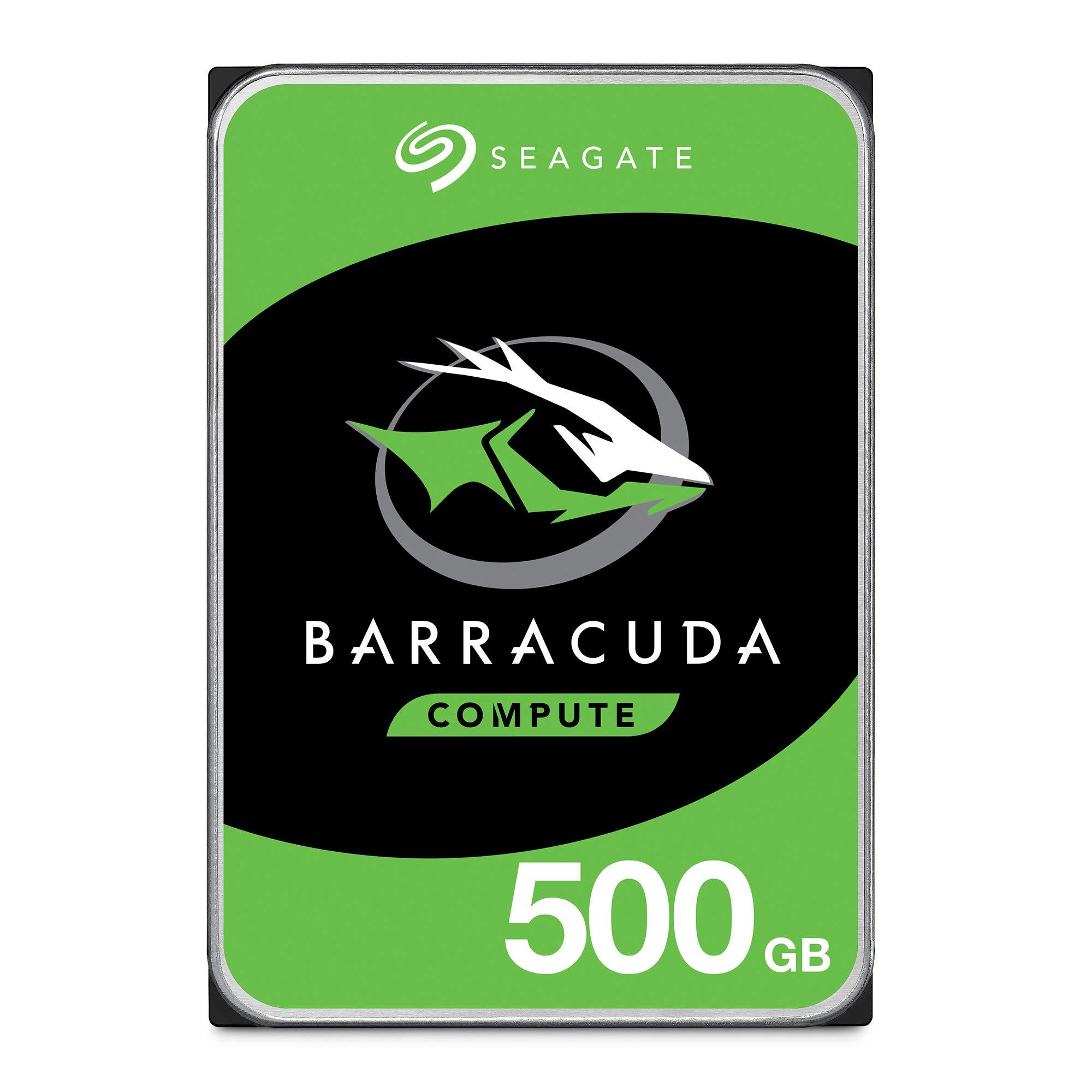 Seagate BarraCuda 500GB Internal Hard Drive HDD - 3.5 Inch SATA 6 Gb/s 7200 RPM 32MB Cache for Computer Desktop PC (ST500DM009) by Seagate