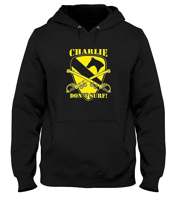 Speed Shirt Sudadera con Capucha Hombre Negro T1018 Charlie Don T Surf Militari: Amazon.es: Ropa y accesorios
