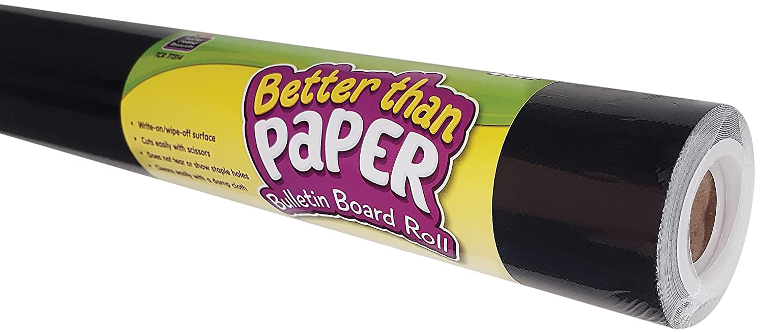 Black Better Than Paper Bulletin Board Roll Teacher Created Resources OS 77314