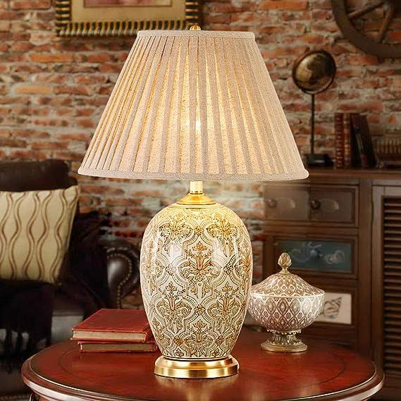 Europa y los Estados Unidos retro lámpara de mesa de cerámica ...