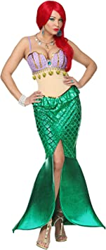 WIDMANN Disfraz de Sirena Deluxe para Mujer M: Amazon.es ...