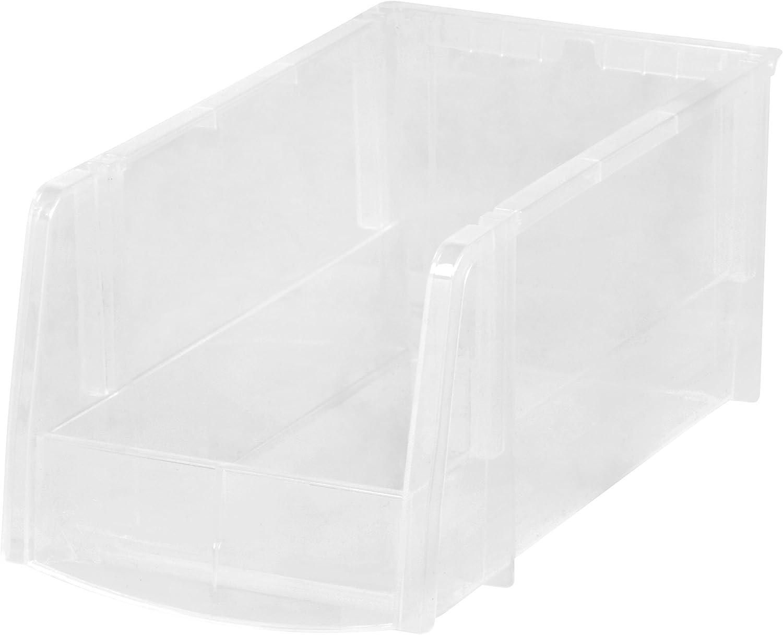 IRIS USA Storage Bin, Medium, 8 Pack, Clear