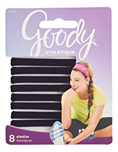 Goody Women's Athletique Sweat Stretch Elastics, 8 Count