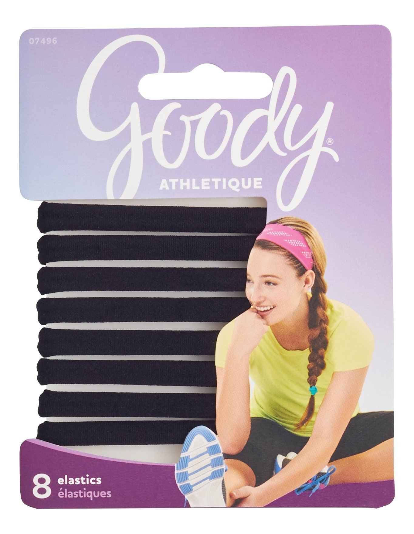 Goody Women's Athletique Sweat Stretch Elastics, 8 Count (packaging may vary)