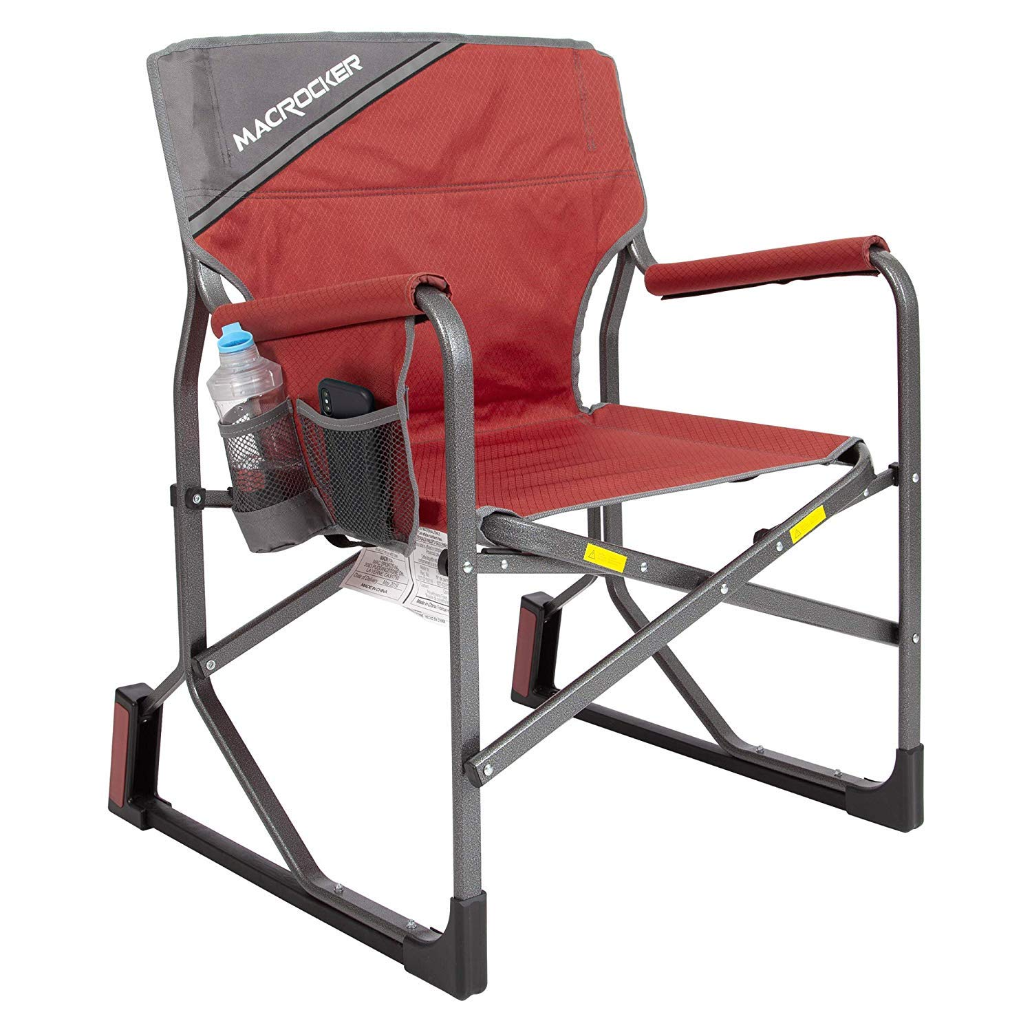 Mac Sports MacRocker Foldable Outdoor Rocking Chair - Red by Mac Sports