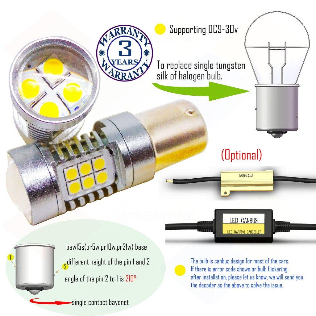 Wiseshine baw15s pr5w pr10w pr21w led auto bulb DC9-30v 3