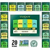 VAHDAM, Green Tea Sampler, 5 TEAS - Tea Variety Pack | Assorted Green Tea Bags | Organic Green Tea, Mint, Earl Grey, Chamomile Tea Bags | 20 Ct | Tea Gift Set & Tea Gift for Tea Lovers