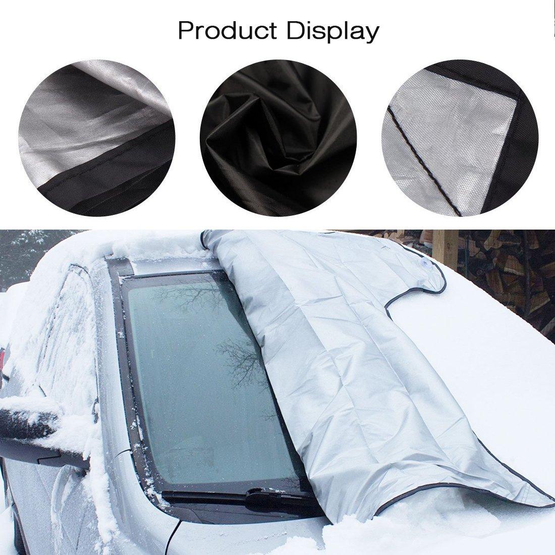 protector para parabrisas, Parsion protector de parabrisas coche Antihielo y Nieve proteja bien el parabrisas del vehículode la escarcha y la nieve en ...