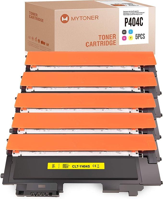 5 Mytoner Kompatibel Für Samsung Clt P404c Clt K404s Multipack Toner Für Samsung Xpress C430 C430w C480 C480w C480fn C480fw Schwarz Cyan Magenta Gelb Bürobedarf Schreibwaren