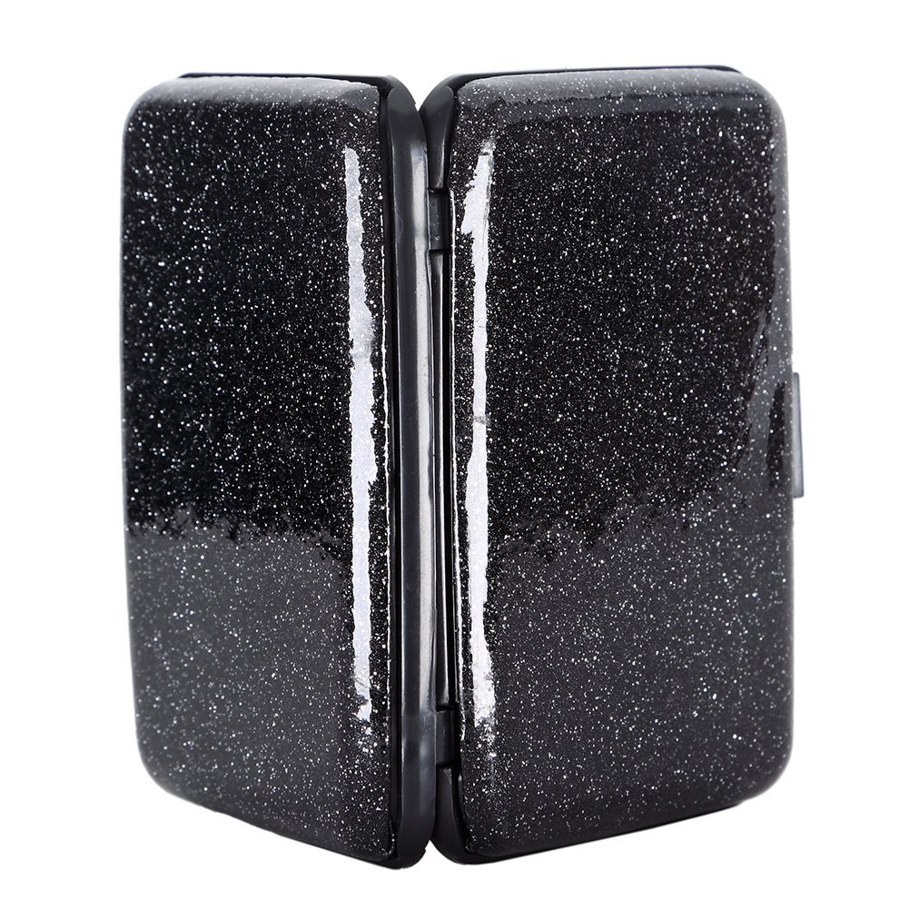 Amazon.com: Glitter Bling aluminio bloqueo RFID portafolios ...