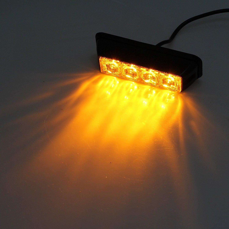 Juego de luces led estroboscó picas de emergencia, de Anzeme, 12 V a 24 V, universal para coche, camió n, remolque, autocaravana, tractor, 2 unidades