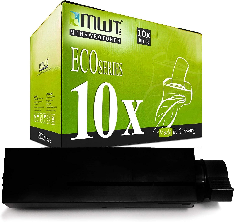 10x MWT Toner para OKI B 400 410 420 430 440 D DN sustituye ...