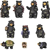 Black Bear Nativity Set 10 Pc Figurine Set Xlarge 7""