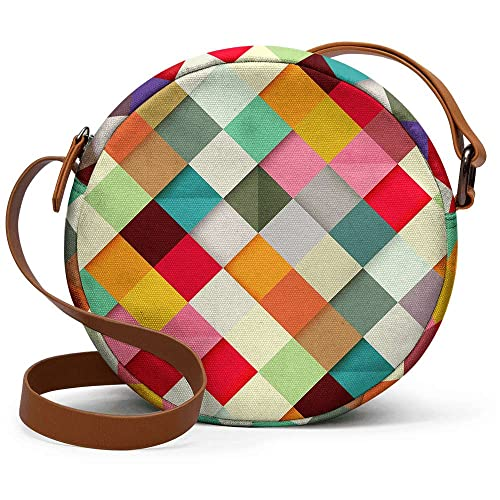 669ec5edd13 DailyObjects Pass This on Orbis Girl's Canvas Sling Bag (Multicolour):  Amazon.in: Shoes & Handbags