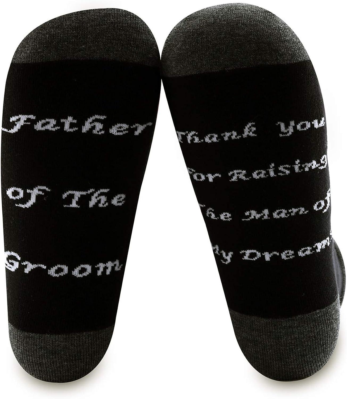 BNQL - Calcetines para padre del novio, regalo de novia para boda, suegro, gracias por criar al hombre de mis sueños