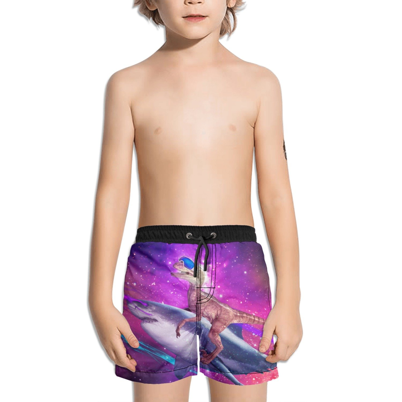 Trum Namii Boy's Quick Dry Swim Trunks Dinosaur Shark Galaxy Space Shorts