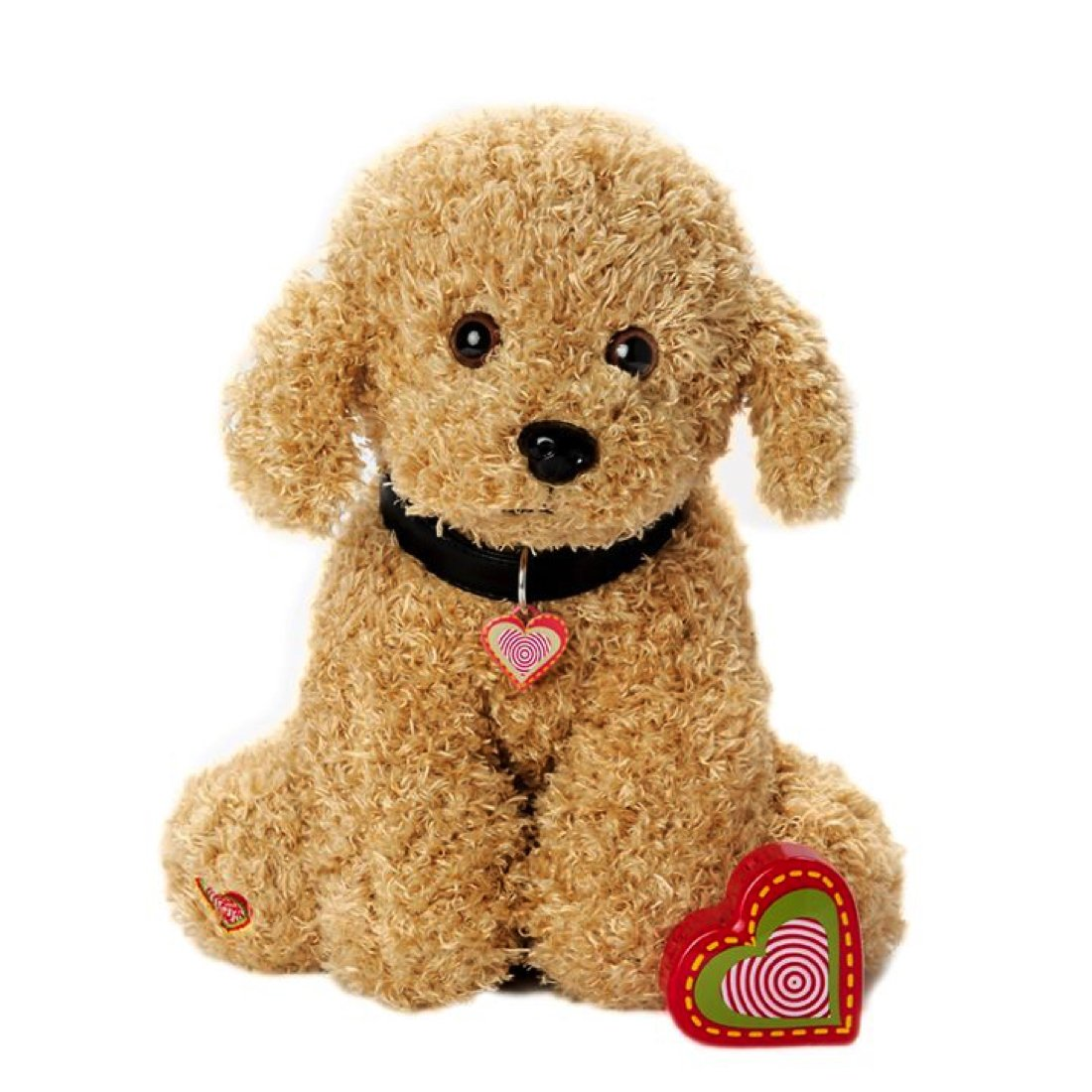 My Baby's Heartbeat Bear - Furbaby's Adorable Stuffed Animal with 20 Second Voice Recordable Heart - Doodle
