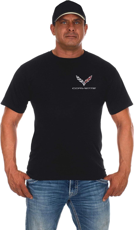 JH DESIGN GROUP Mens Chevy Corvette C7 Black Crew Neck T-Shirts in 2 Styles