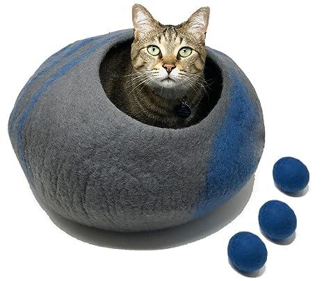 amazon com catcatcat premium quality cat cave bed large 3 free