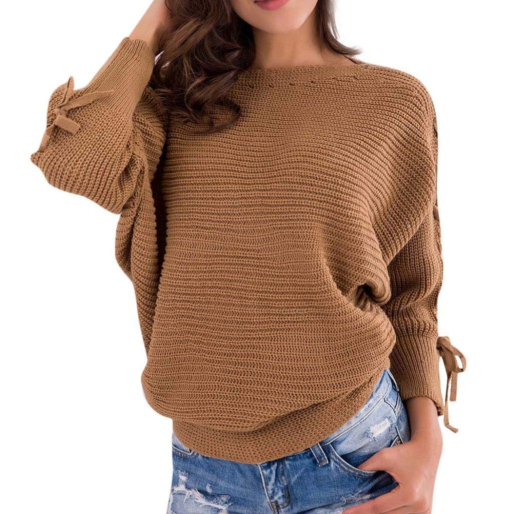 Tsmile Clearance Fall Winter Women Ladies Long Sleeve Knitting Casual Blouse Tops Sweater Pullover