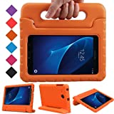 BMOUO Kids Case for Samsung Galaxy Tab A 7.0 - EVA Shockproof Case Light Weight Kids Case Super Protection Cover Handle Stand Case for Kids Children for Samsung Galaxy Tab A 7-inch Tablet - Orange