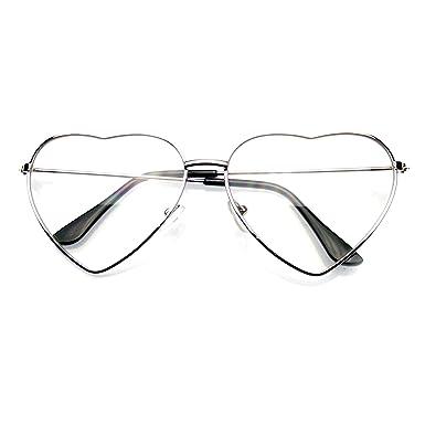 Emblem Eyewear - Premium Mujer Lindo Marco Metal Corazón Forma De Gafas De Sol