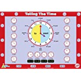 """Little Wigwam Telling The Time Chart - """"No Tear Guarantee"""" Educational Poster (60 x 42cm / 24 x 17 inches)"""