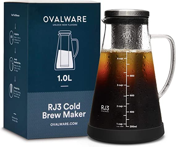 Cold Brew Iced Coffee Maker and Tea Infuser with Spout