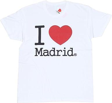 Camiseta Algodón Unisex - I Love Madrid: Amazon.es: Ropa y accesorios