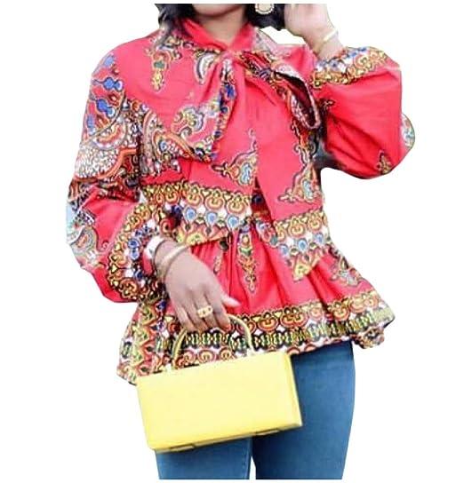 Fseason Womens Elegant African Dashiki Printing Tops T Shirts Blouse at Amazon  Women s Clothing store  781e025fc