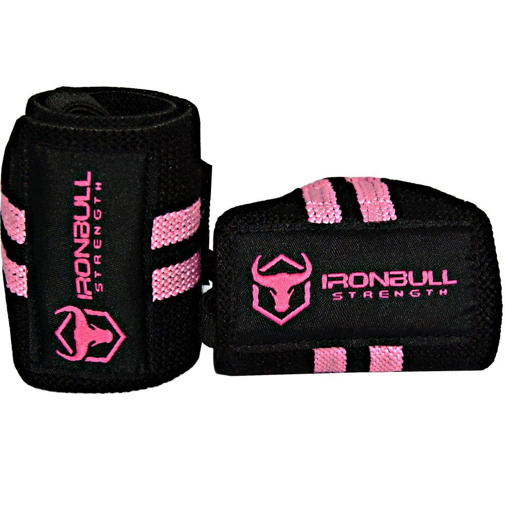 Women Wrist Wraps with Thumb Loops 12 Professional Grade Wrist Support Brace and Compression for Cross Training Strength Training Iron Bull Strength Weight Lifting Powerlifting