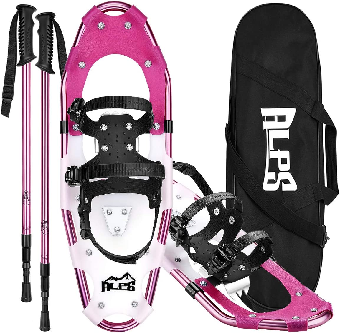ALPS Lightweight Snowshoes Set for Women,Girls+Trekking Poles,Carrying Tote 30""