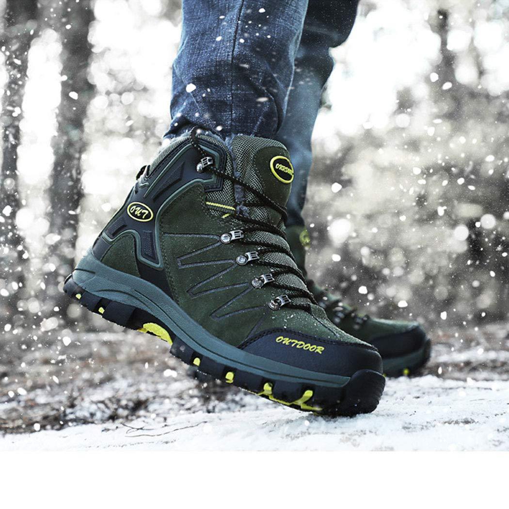 Männer Outdoor-Wanderschuhe High-Top-Bergwanderstiefel rutschfeste tragen Herrenschuhe plus Samt warme wasserdichte Multi-Sport-Schuhe Multi-Sport-Schuhe wasserdichte b93aaf