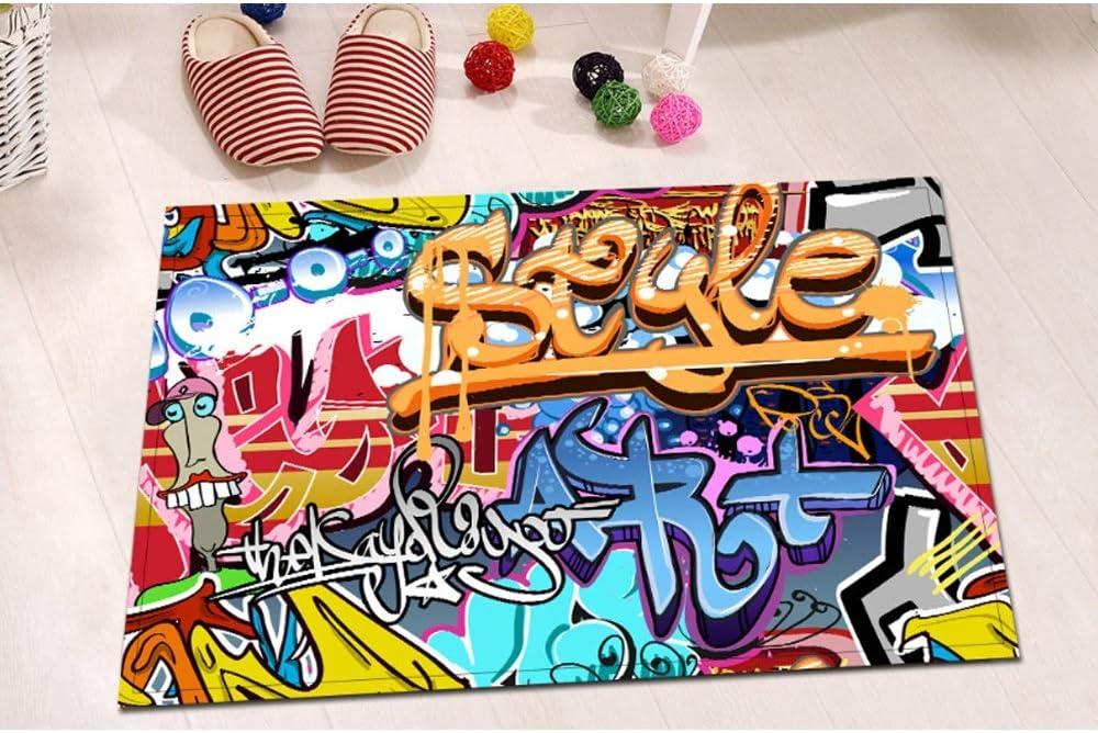 Enth/ält 12 Duschvorh/änge Polyester-Badvorhang In Mehreren Gr/ö/ßen Color : Avec Tapis, Size : 150 x 180cm Farbe XUE Graffiti-Duschvorhang