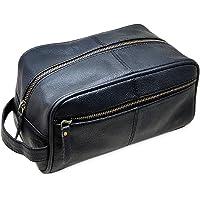 Men's Genuine Leather Toiletry Bag Waterproof Dopp Kit Shaving Bags and Grooming for Travel Groomsmen Gift Men Women…