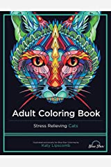 Adult Coloring Book: Stress Relieving Cats Paperback