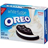 Nabisco, Oreo, White Fudge Covered, Limited Edition, 8.5oz Box (Pack of 3)