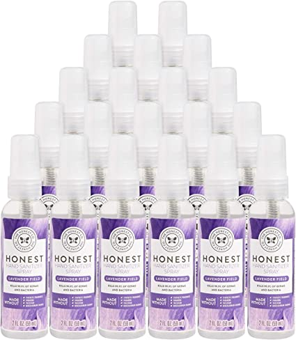 Amazon Com The Honest Company Hand Sanitizer Spray 2oz Lavender Field 20 Pack 20 Count Health Personal Care
