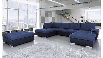 Bmf Tokio Maxi Large U Shape Grey White Faux Leather Or Fabric