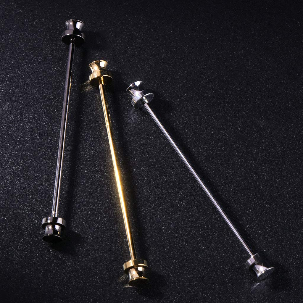 LANDUM 1 Piece Shirt Pins for Mens, Tie Clip Collar Clasp Alloy Skinny Wedding Man Brooch Bar Fashion - Gold by LANDUM (Image #3)