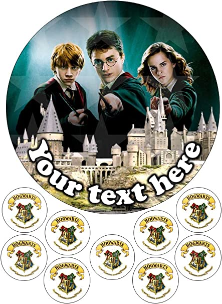 Harry Potter Ron and Hermione - Decoración comestible para tarta