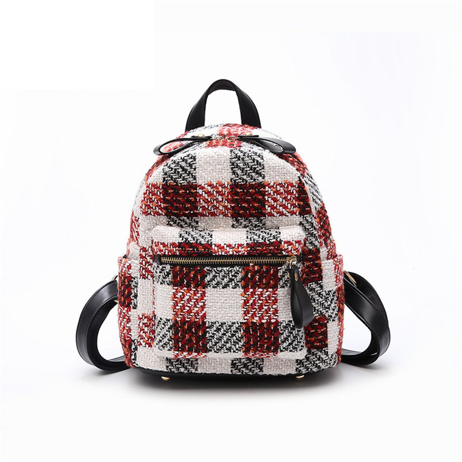 Amazon.com: Richard Nguyen Luxury Plaid Bag For Women New Backpack Mochilas Mujer New Lady Felt Backpack Women Bagpack Red: Clothing