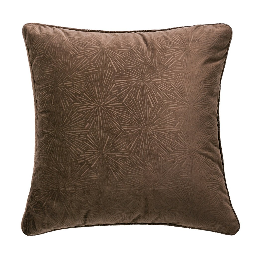 ZUOANCHEN Cushion European Luxury Cushion Sofa Pillow Office Plant Flower Cushion Removable and Washable Containing Pillow Lumbar Pad 45 45CM (Color : Brown)