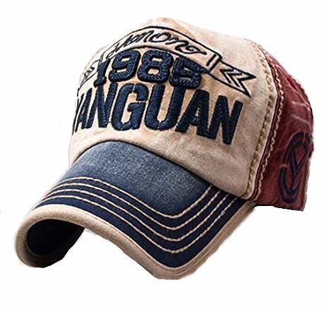 Gorra de béisbol vintage con aspecto gastado, tipo snapback, transpirable, con cinta ajustable