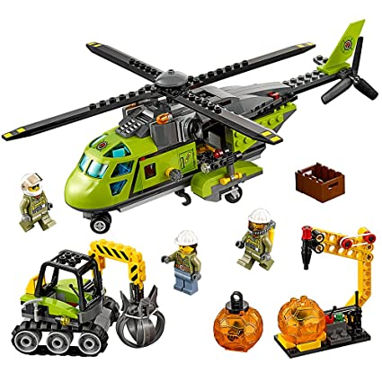 60124 LEGO Cit Suit with Harness Volcano Explorer NEW LEGO Female Worker