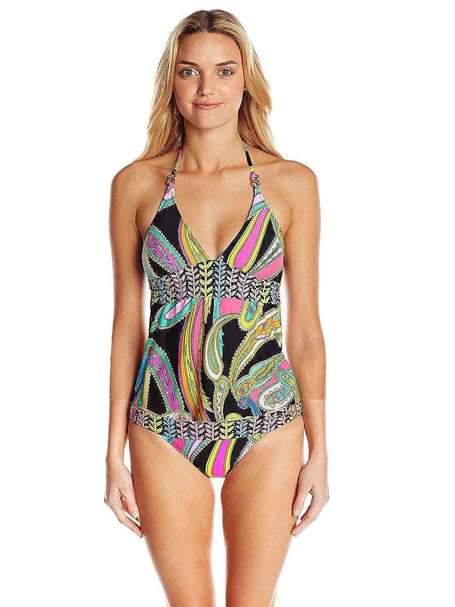 6bb84196c7f Amazon.com: Trina Turk Women's Garden Paisley Tankini Top & Bottom Swimsuit  Set (4): Clothing